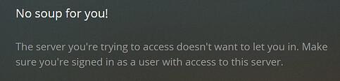plex no access