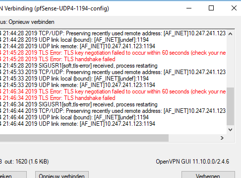 Openvpn server on pfsense not working - Networking