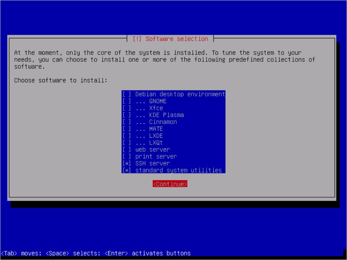 0008 - Debian Software Selection Server config